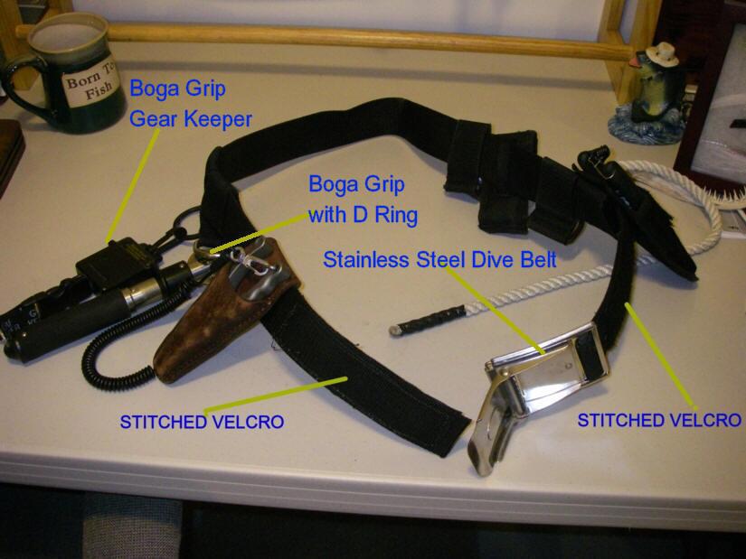 Ultimate surf belt for Saltwater wade fishing gear