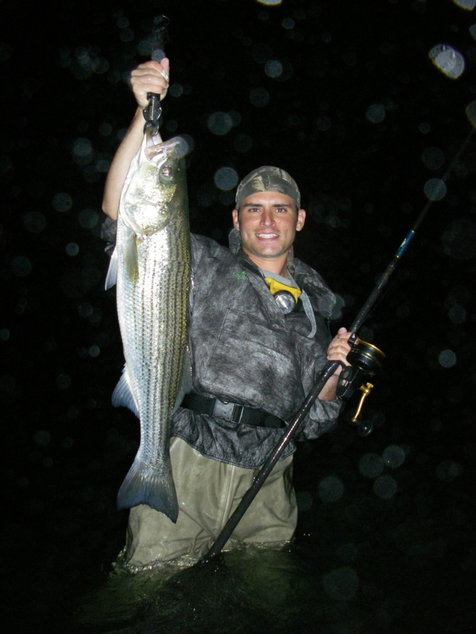 Guide services for Striper fishing at night